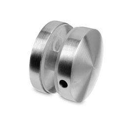 Stainless steel connector for glass