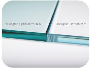Low iron glass sample