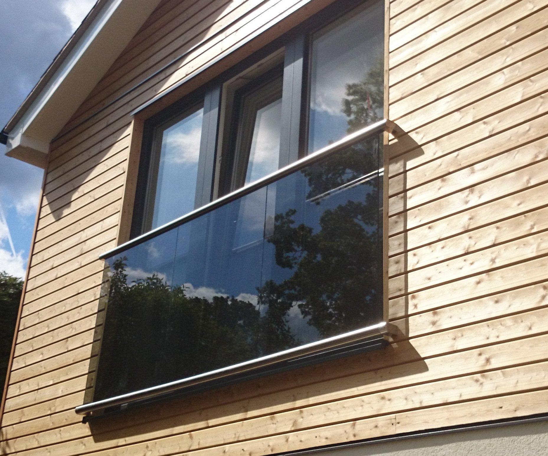 Wall Flanged Juliette Balustrade Glass