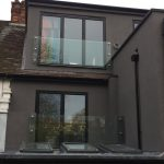 Extra wide frameless glass juliette balcony