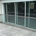 Framed stainless steel glass juliette balcony