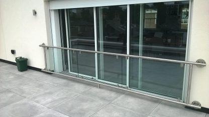 Framed stainless steel glass juliette balcony